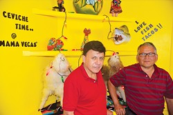 from left Mamaveca owner William Chunga and manager Jose Rios - JACOB THREADGILL