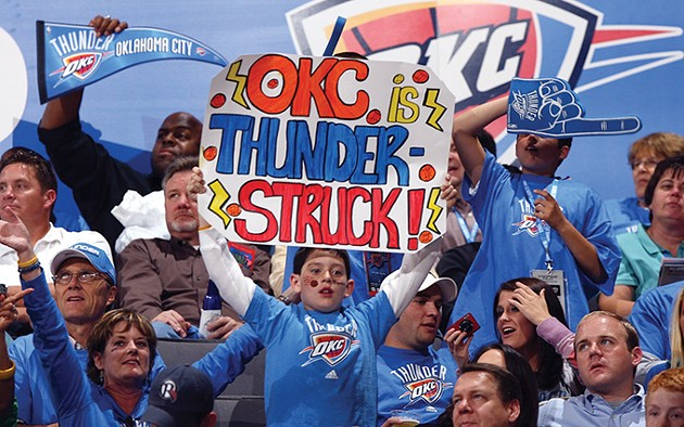 The crowd during Oklahoma City Thunder's first regular season game. - PROVIDED
