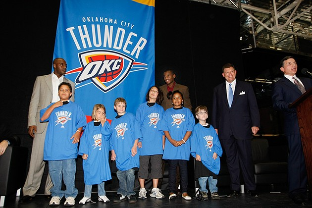 The Thunder logo and team name were officially unveiled in September 2008 in Leadership Square. - PROVIDED