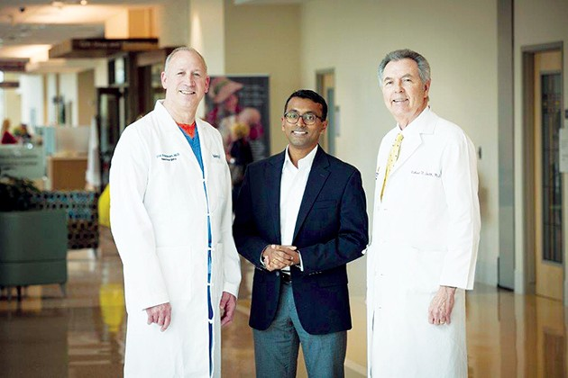 Drs. Eric Friedman, Cherian Karunapuzha and Richard Smith are part of the Herman Meinders Center for Movement Disorders. - PROVIDED