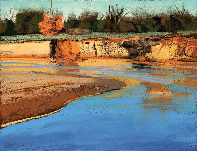 """Platte River Cottonwood"" by Debby Kaspari - MAINSITE CONTEMPORARY ART / PROVIDED"