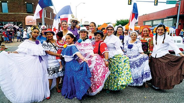Folklorico dancers perform a traditional Mexican dance at Fiestas de las Americas. - PROVIDED