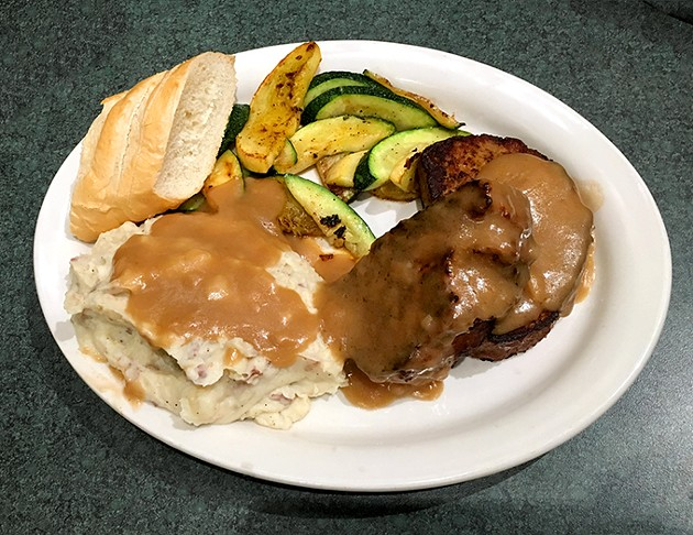 Metro Diner's meatloaf was featured in a 2010 appearance of Diners, Drive-Ins and Dives. - JACOB THREADGILL