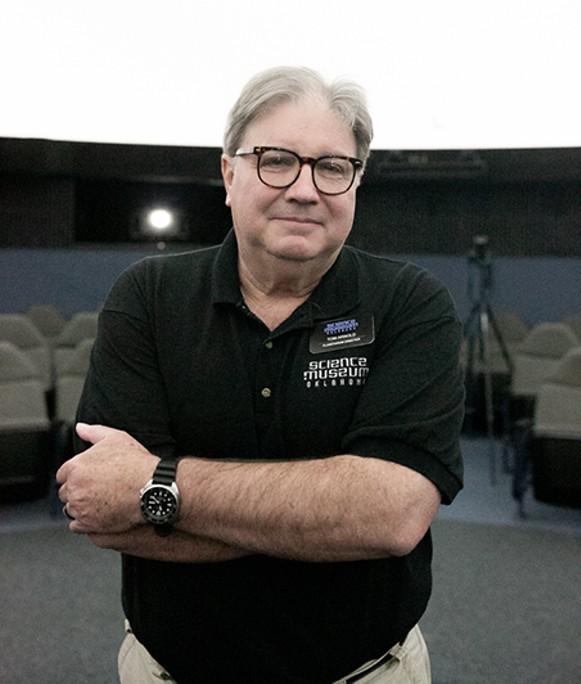 Science Museum Oklahoma planetarium director Tom Arnold said the new planetarium system can create custom programs for Oklahoma audiences when it goes online Saturday. - ALEXA ACE