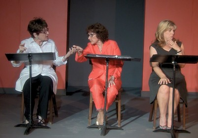 from left Mary Gordon Taft, Jane Hall and Christine Jolly perform Low Society, a winning play from 2012. - CARPENTER SQUARE THEATRE / PROVIDED