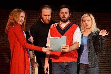 Left to right Ashley Bower, Peter Fischaber, Matthew Moreillon, and Jessica Bisel appear in Carpenter Square Theatre's horror satire, Slasher. - RHONDA CLARK / PROVIDED