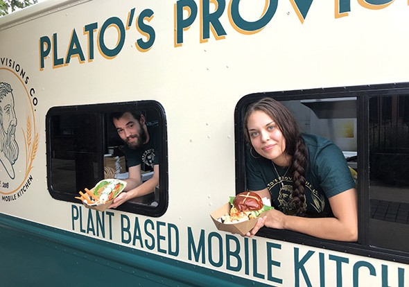 Clinton Farmer and Taylor Martin's food truck Plato's Provisions debuted in August. - JACOB THREADGILL