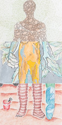 Exquisite Corpse combines a total of 60 Oklahoma artists. - PROVIDED