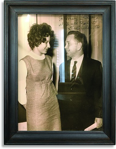 David Holt's mother, Mary Ann Fuller Holt, with Congressman Carl Albert - PROVIDED