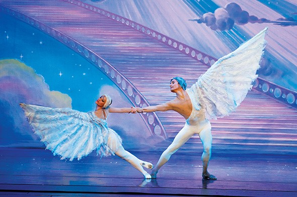 Moscow Ballet's signature Dove of Peace dances in the Land of Peace and Harmony. - MOSCOW BALLET / PROVIDED