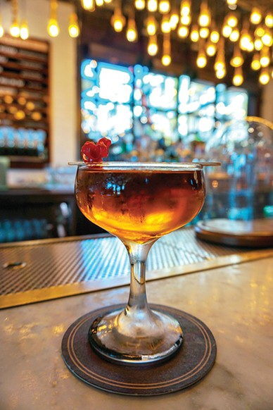 The Jones Assembly's scorching cocktail The Mother of Dragons features several spicy liquors, bitters and liqueurs. - MALORY CRAFT