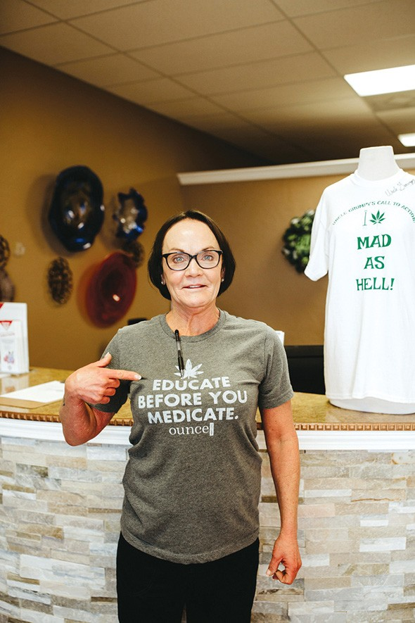Green Hope Wellness owner Renee Harper - stresses the importance of discussing current medications and possible counteractions with medical marijuana. - ALEXA ACE