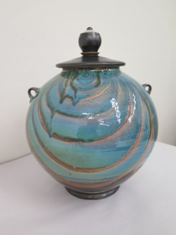 A lidded pot is available at Oklahoma Contemporary Art Center's annual ceramics sale. - PROVIDED