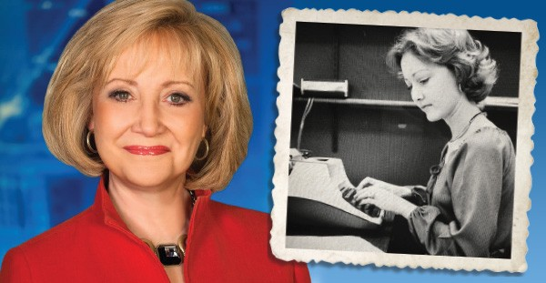 Linda Cavanaugh today left and during her early years reporting for WKY (now KFOR) right - PROVIDED