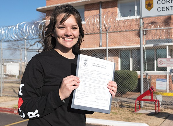 Kayla Jo Jeffries is one of 21 inmates who was granted commutation by Gov. Fallin on Dec. 5. - OKLAHOMANS FOR CRIMINAL JUSTICE REFORM / PROVIDED