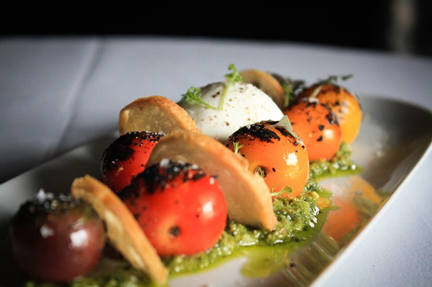 Burrata mozzarella appetizer - PROVIDED