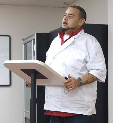 Joby Johnson graduated from TEEM's culinary arts program in December. - TEEM / PROVIDED