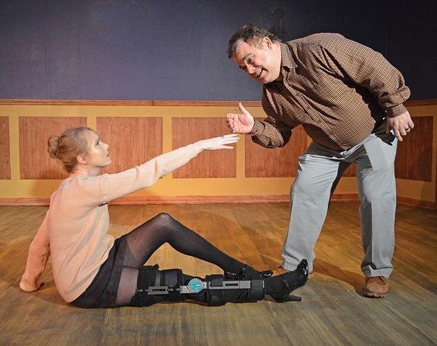 from left Chelsea Davis plays Senga and Daniel Willsey plays Ever in Carpenter Square Theatre's production of Dancing Lessons. - CARPENTER SQUARE THEATRE / PROVIDED