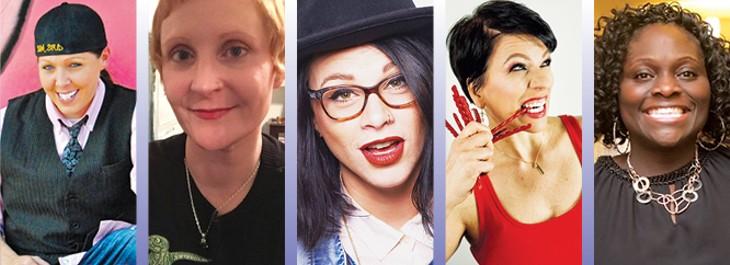 left to right Angel Hamilton, Melissa McGinnis, Meghan Welch, Julie Drake and Georgina Adjaye - PROVIDED