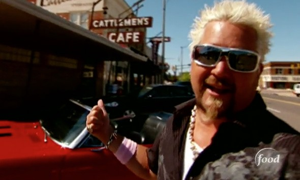 Guy Fieri outside Cattlemen's Steakhouse in 2009 - FOOD NETWORK / PROVIDED