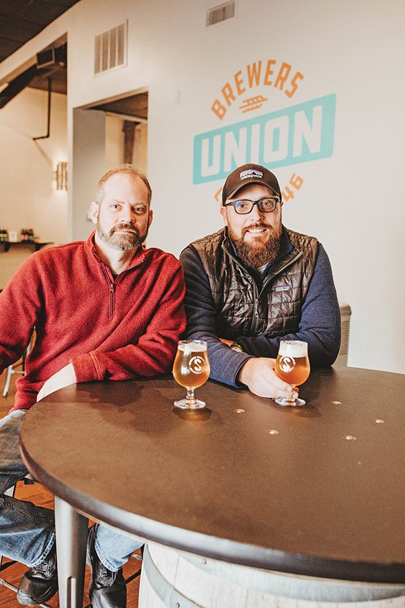 Skydance Brewing owners Nicholas Hodge and Jake Keyes at Brewers Union - ALEXA ACE