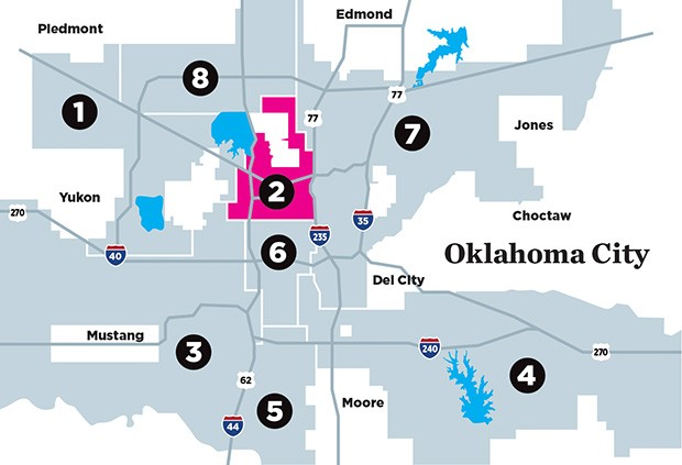 Oklahoma City is divided into eight Wards whose residents elect a council member to represent them on the city council. - DATA.OKC.GOV