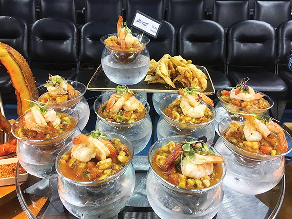 Budweiser Brew House includes Gulf shrimp ceviche on its events menu. - GAZETTE / FILE