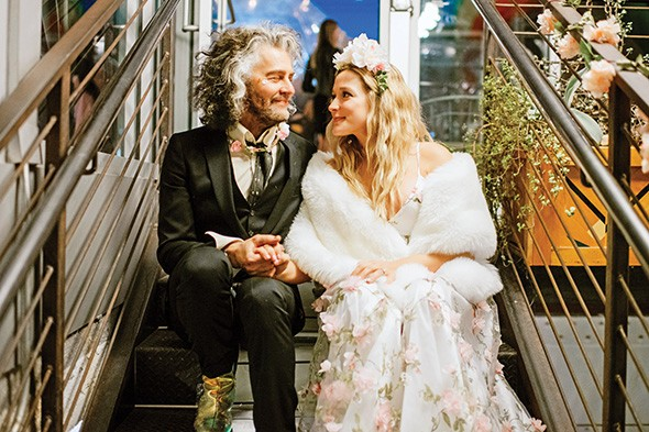 Katy Weaver and Wayne Coyne were wed Jan. 5 on the roof of Plenty Mercantile in downtown OKC. - KATIE LANE / PROVIDED