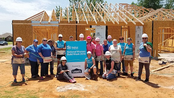 Habitat for Humanity's Women Build Week encourages women volunteers to help build houses for people in their communities. - CENTRAL OKLAHOMA HABITAT FOR HUMANITY / PROVIDED