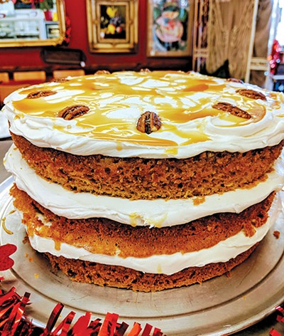Gentleman's Cake is a pineapple brown sugar whiskey pecan cake with brown sugar and whiskey frosting. - NICHOLAS WADE / PROVIDED