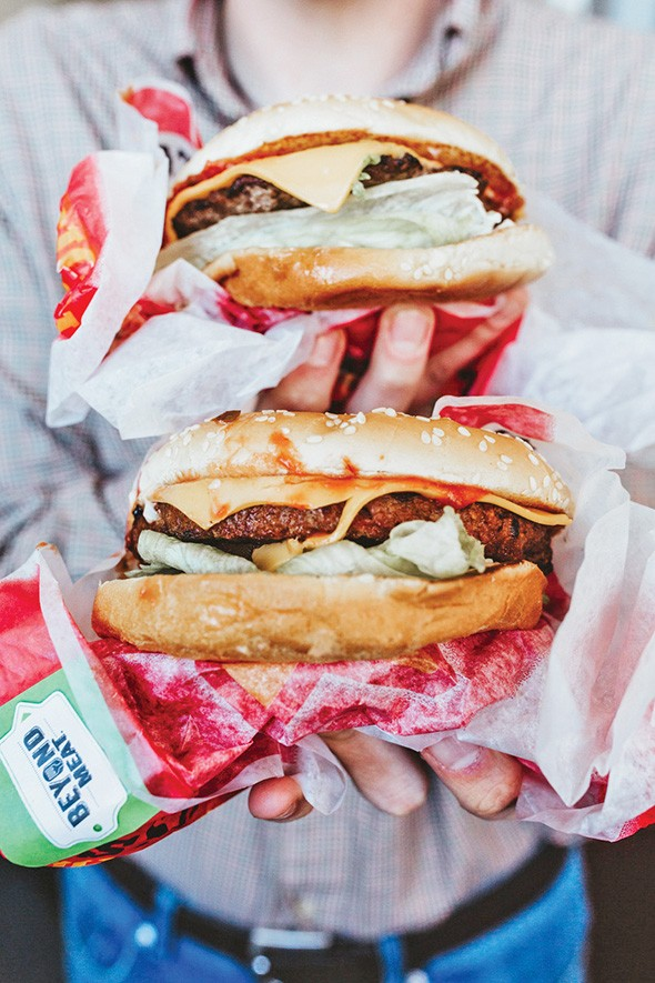 The Beyond Meat Famous Star at Carl's Jr. beat conventional beef in a side-by-side taste test. - ALEXA ACE
