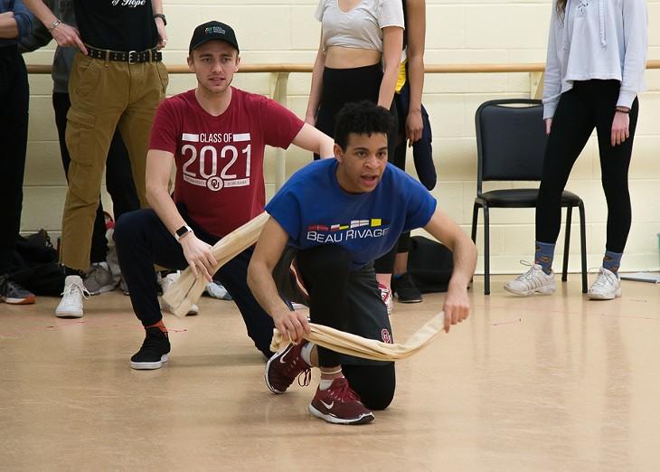 University of Oklahoma theater students rehearse for Grand Hotel. - PROVIDED