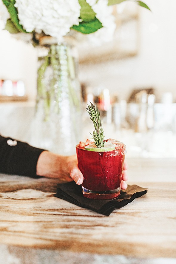 The Merret offers seasonal craft cocktails, including one champagne cocktail. - ALEXA ACE
