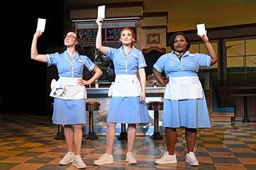Jessie Shelton, Christine Dwyer and Tatiana Lofton perform in Waitress. - TIM TRUMBLE / PROVIDED