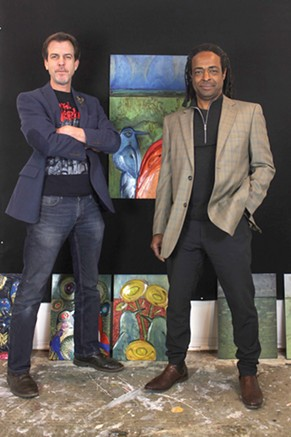 Douglas Shaw Elder and Skip Hill combined their artistic talent for a showcase at The Depot Gallery called Melrose Sessions. - PROVIDED