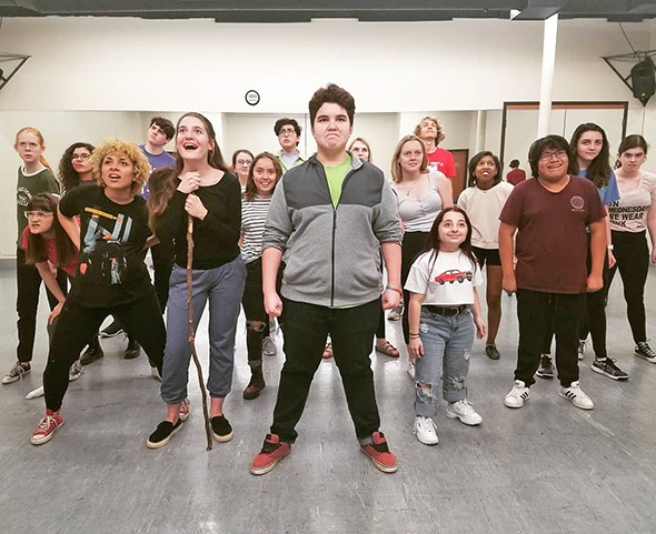 The cast of Thelma Gaylord Academy's production of Urinetown: The Musical rehearses. - NICHOLAS BARTELL / PROVIDED