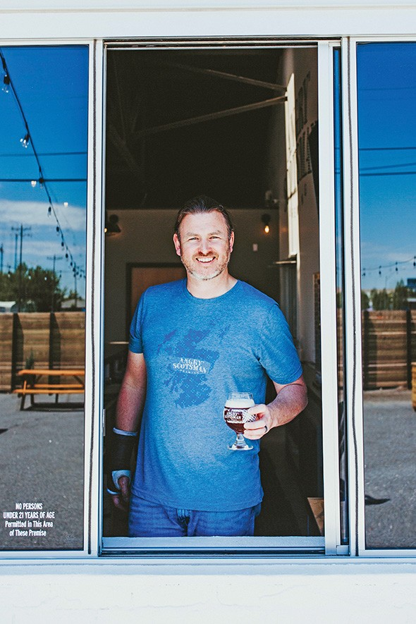 Ross Harper parlayed his science background into brewing beer at Angry Scotsman Brewing. - ALEXA ACE