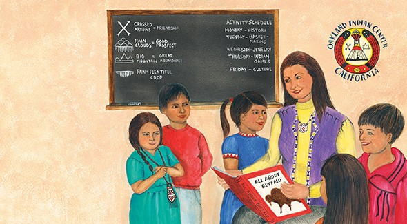 Linda Kukuk's illustrations in Wilma's Way Home capture Wilma Mankiller's experiences after the Indian Relocation Act of 1956. - DISNEY HYPERION / PROVIDED