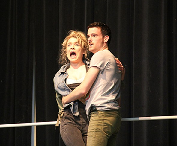 from left Emily Pace and Seth Paden star in Pollard Theatre Company's production of Disaster! - POLLARD THEATRE COMPANY / PROVIDED