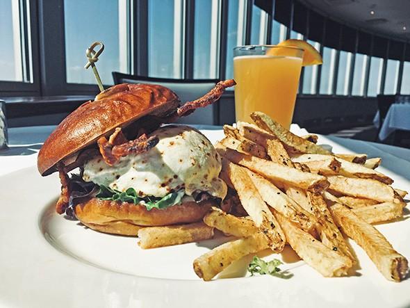 A new wild boar burger at 3Sixty Restaurant - JACOB THREADGILL