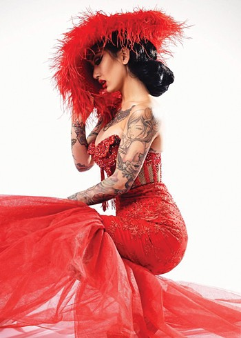 San Francisco, California-based Frankie Fictitious will perform in Oklahoma City for the first time as part of The 7th Annual Oklahoma City Burlesque Festival. - GINA BARBARA / PROVIDED