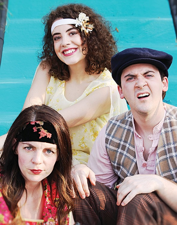 Rachel Ryan Nicholes, Rachel Necessary and Jordan Nicholes star in Oklahoma Shakespeare's production of William Shakespeare's The Comedy of Errors June 6-29 at Myriad Botanical Gardens' Water Stage. - PROVIDED