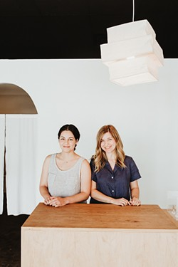 from left Angela Hodgkinson and Blakely Hiner are co-owners of Solare. - ALEXA ACE