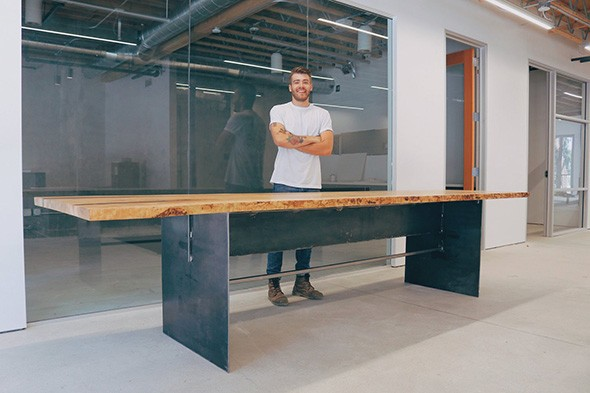 Mike Montgomery provides plans for projects like this wood and metal conference table at modernbuilds.com. - MODERN BUILDS / PROVIDED