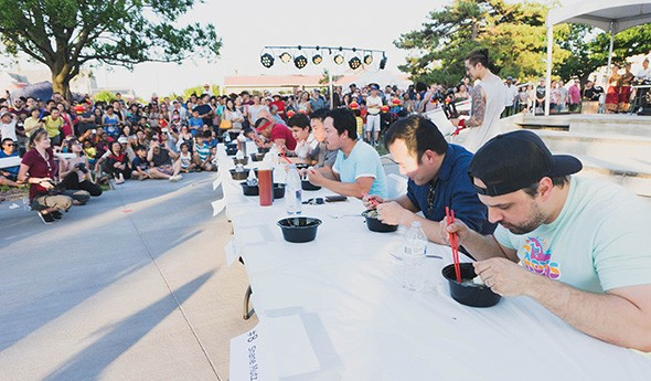 After last year's pho eating competition, this year's Night Market Festival features an egg roll competition. - VILONA MICHAEL / PROVIDED