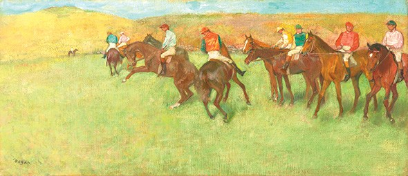 """At the Races: Before the Start"" by Edgar Degas - KATHERINE WETZEL / VIRGINIA MUSEUM  OF FINE ARTS / PROVIDED"