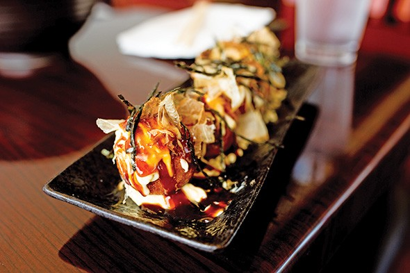 Takoyaki, a fried octopus dumpling - ALEXA ACE