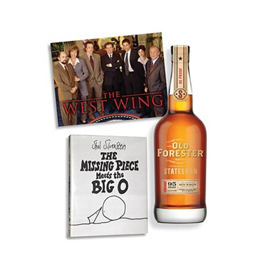 The West Wing | Photo NBC / provided • The Missing Piece Meets the Big O | Image HarperCollins Publishers / provided • Old Forester | Photo Old Forester / provided