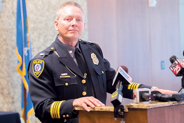 Wade Gourley now serves as Oklahoma City Police Department's 50th chief. - MIGUEL RIOS
