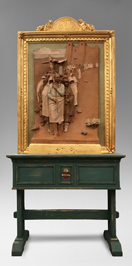 """Paul Moore and his sculpture """"The Procession"""" were honored with Prix de West's 2019 purchase award. - PROVIDED"""
